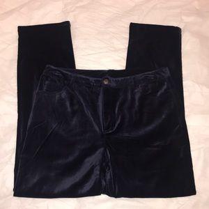 Navy Blue Velour Pant 4 Pockets NWOT